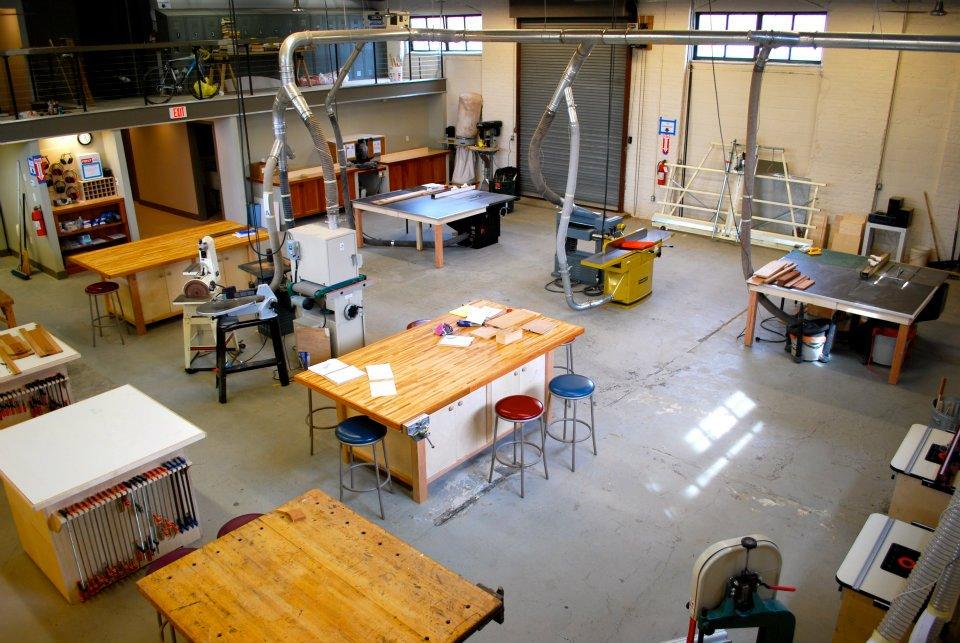 The shop philadelphia woodworks for Wood mezzanine construction plan