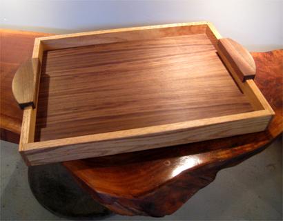 gorgeous hardwood serving tray philadelphia woodworks. Black Bedroom Furniture Sets. Home Design Ideas