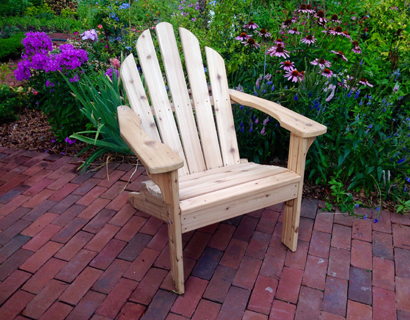 Make a beautiful cedar Adirondack Chair!